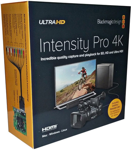 blackmagic design intensity pro 4k - captura profissional