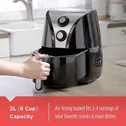 blackmas decker - purificador de aire de 2 litros, negro / a