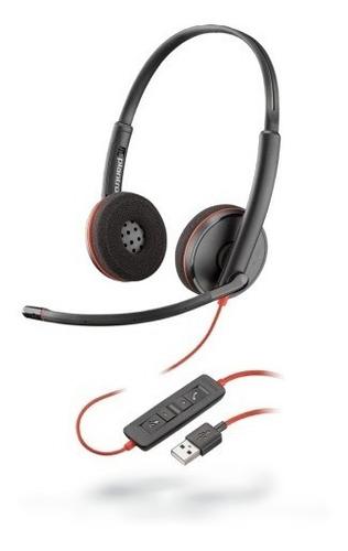 blackwire c3220 auricular estéreo plantronics usb a