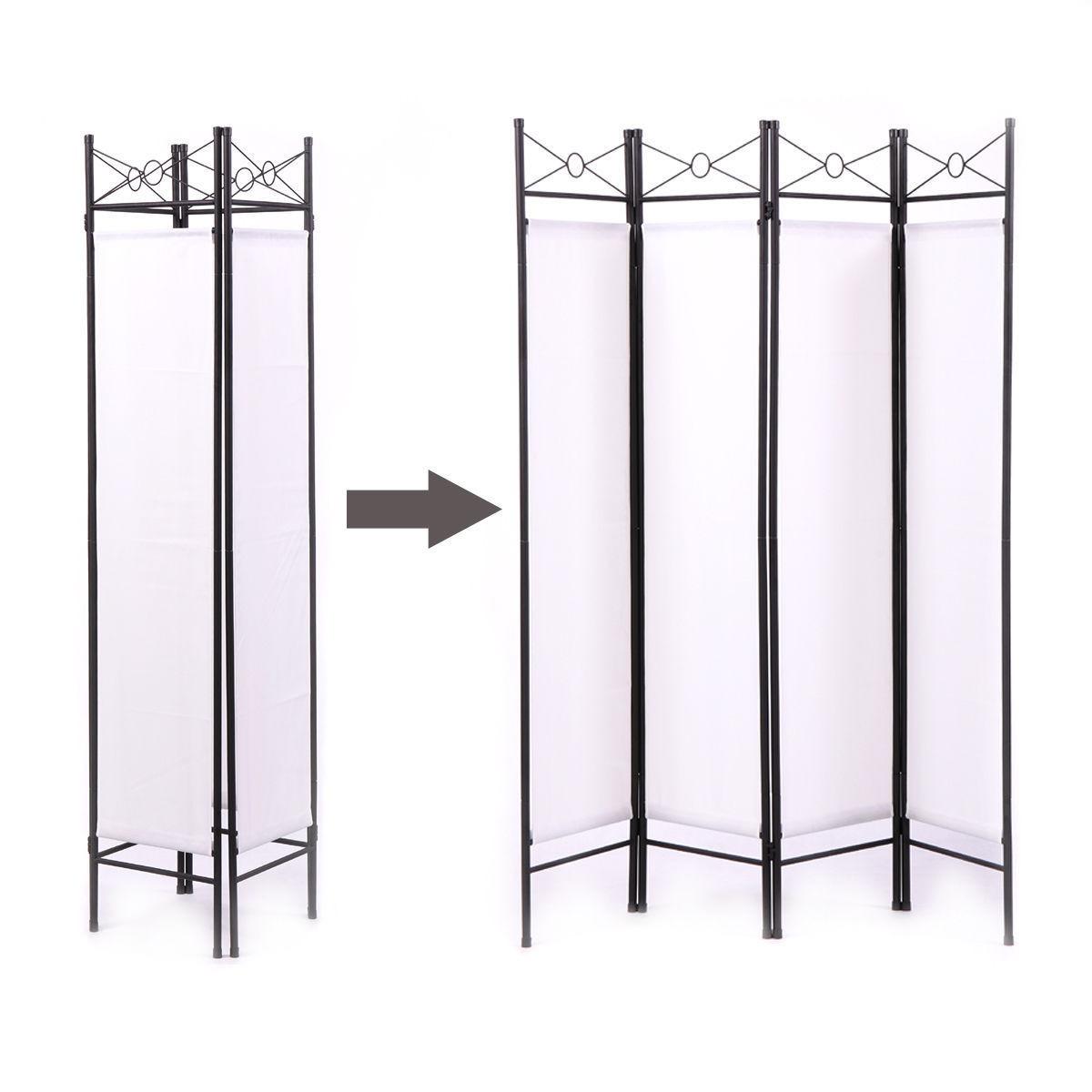 Blanco 4 Panel Sala Divisor Privacidad Pantalla Inicio... - $ 62.990 ...