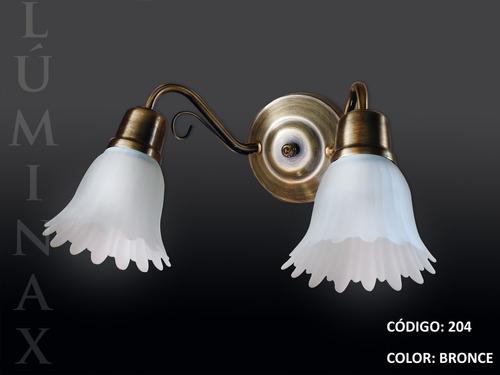 blanco - aplique pared de 2 luces- vintage, clásico, hierro.