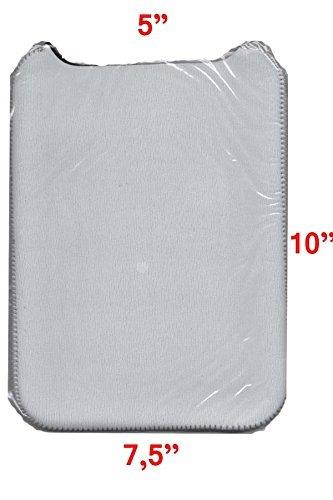 blanco funda de neopreno tablet transferencia de calor de su