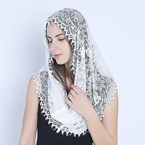 blanco infinity bufanda mantilla  velo católica iglesia vel