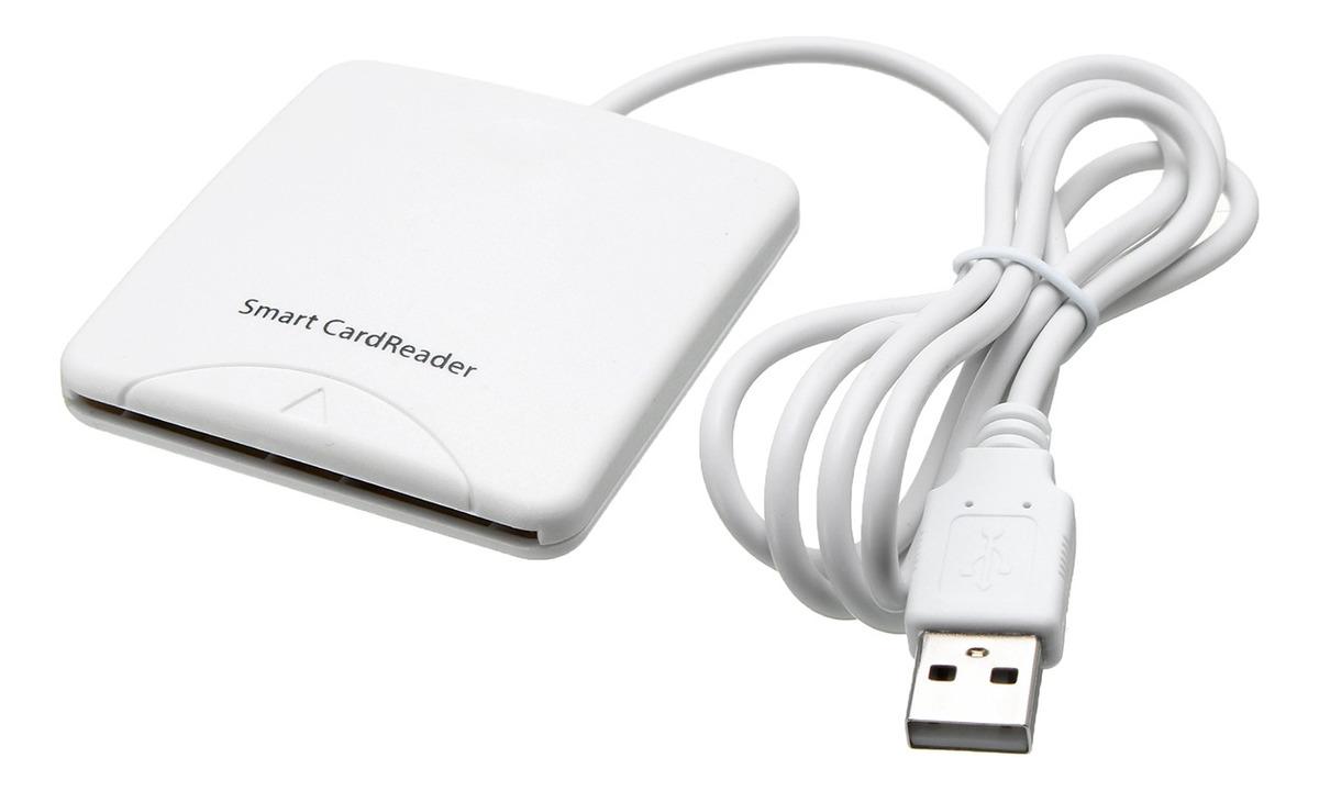 Lectores de Tarjetas de cr/édito de Tarjetas de cr/édito Compatible con Tarjetas Inteligentes para PC Compatible con Windows Mac OS X Linux o Sistema Superior de Color Blanco PC//SC 1.0//2.0