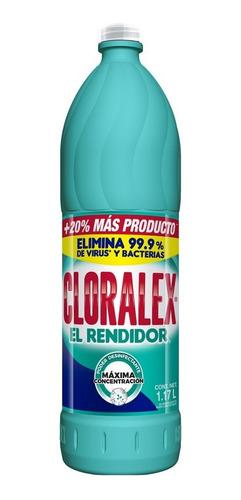 blanqueador cloralex el rendidor 1.17 l