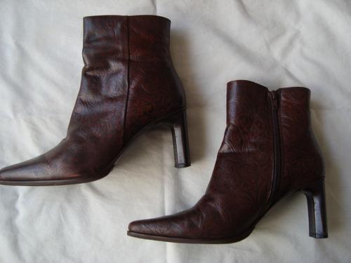 blaque botas caña media 100% cuero n°35 envio gratis cuotas