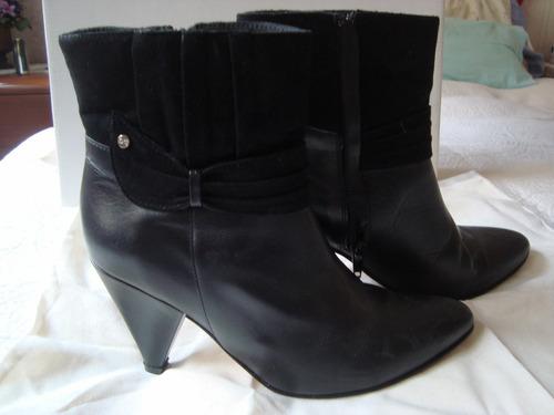 blaque botas cuero-gamuza n°37 cuotas y envio gratis!