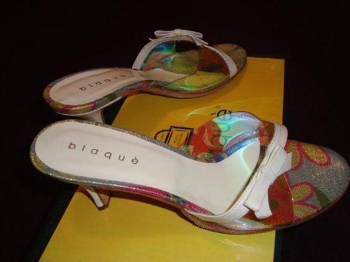 blaque sandalias cuero  acrílico n°35 envio gratis y cuotas!