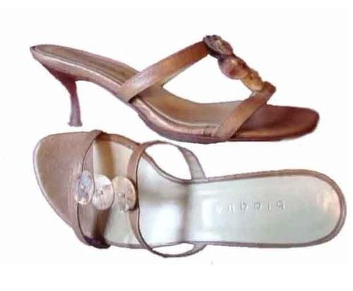 blaque sandalias cuero negro/marron n°35 envio gratis cuotas