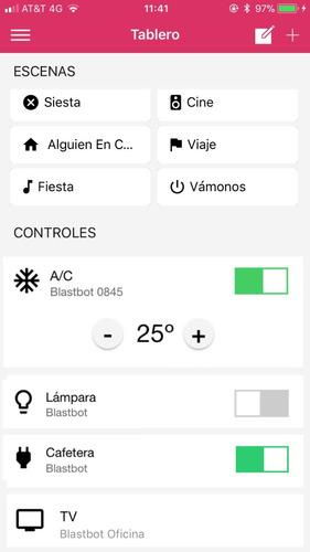 blastbot pack: control remoto universal wifi