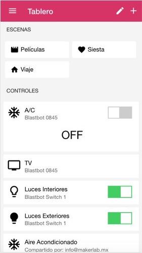 blastbot: smart switch (apagador inteligente) 2 botones
