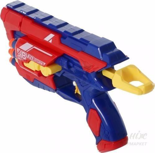 blaze storm pistola lanza dardos + 10 dardos exc. calidad