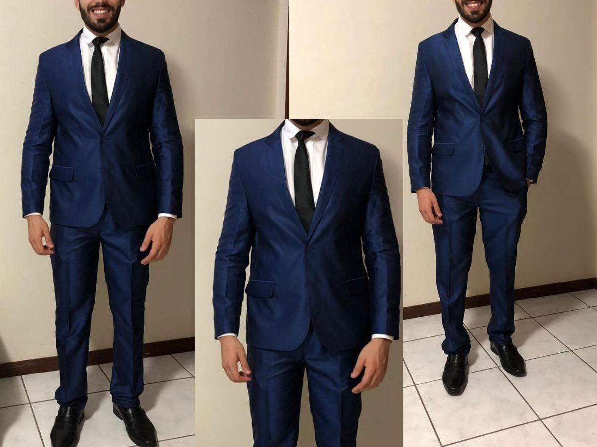 d75f0d6d82289 blazer azul marinho slim fit - destaque + frete grátis. Carregando zoom.