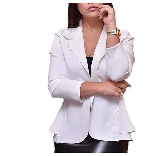 827755781b Blazer Branco Feminino - R  49