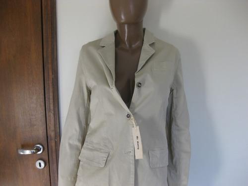 blazer campera beige de mujer mc kenzy importada italia