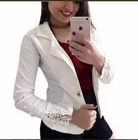 f51da763e0 Blazer Casaco Com Renda Nas Mangas Gripir Bengaline Moda · 8 cores