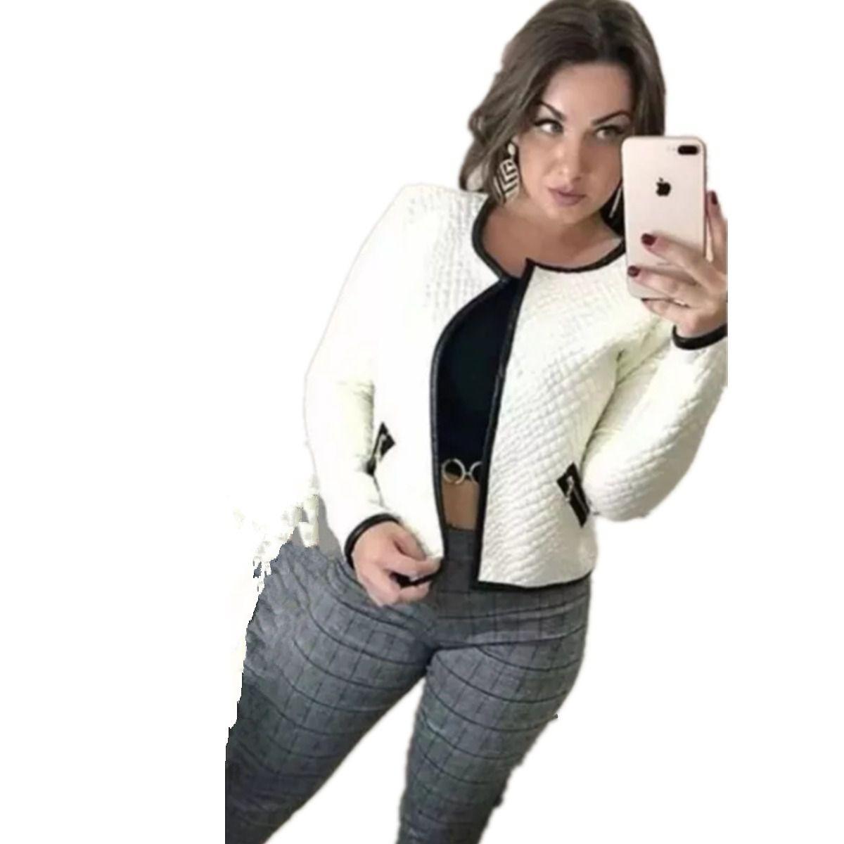 e02c313a28 blazer casaco feminino jaqueta manga longa inverno blusas. Carregando zoom.