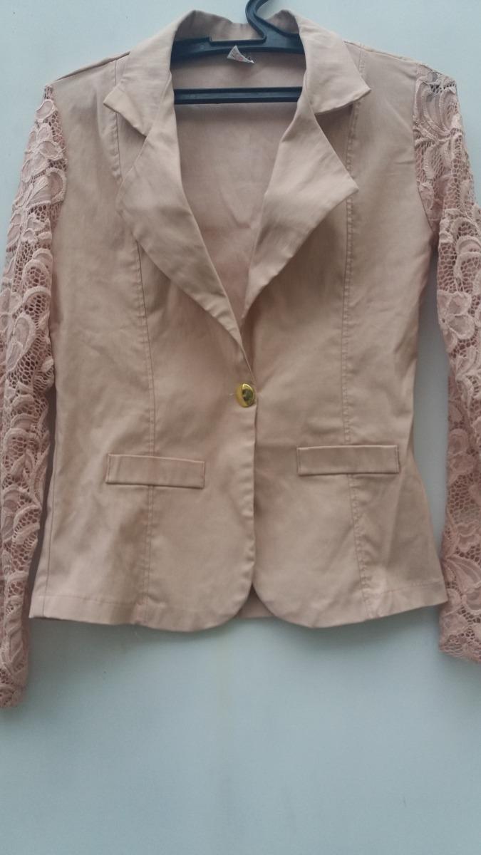 814694df06 blazer casaco feminino manga renda guipir - m - rose - f s. Carregando zoom.