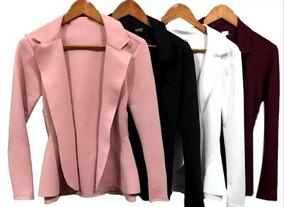 3c8773a6b1 Blazer Sem Manga Feminino - Calçados