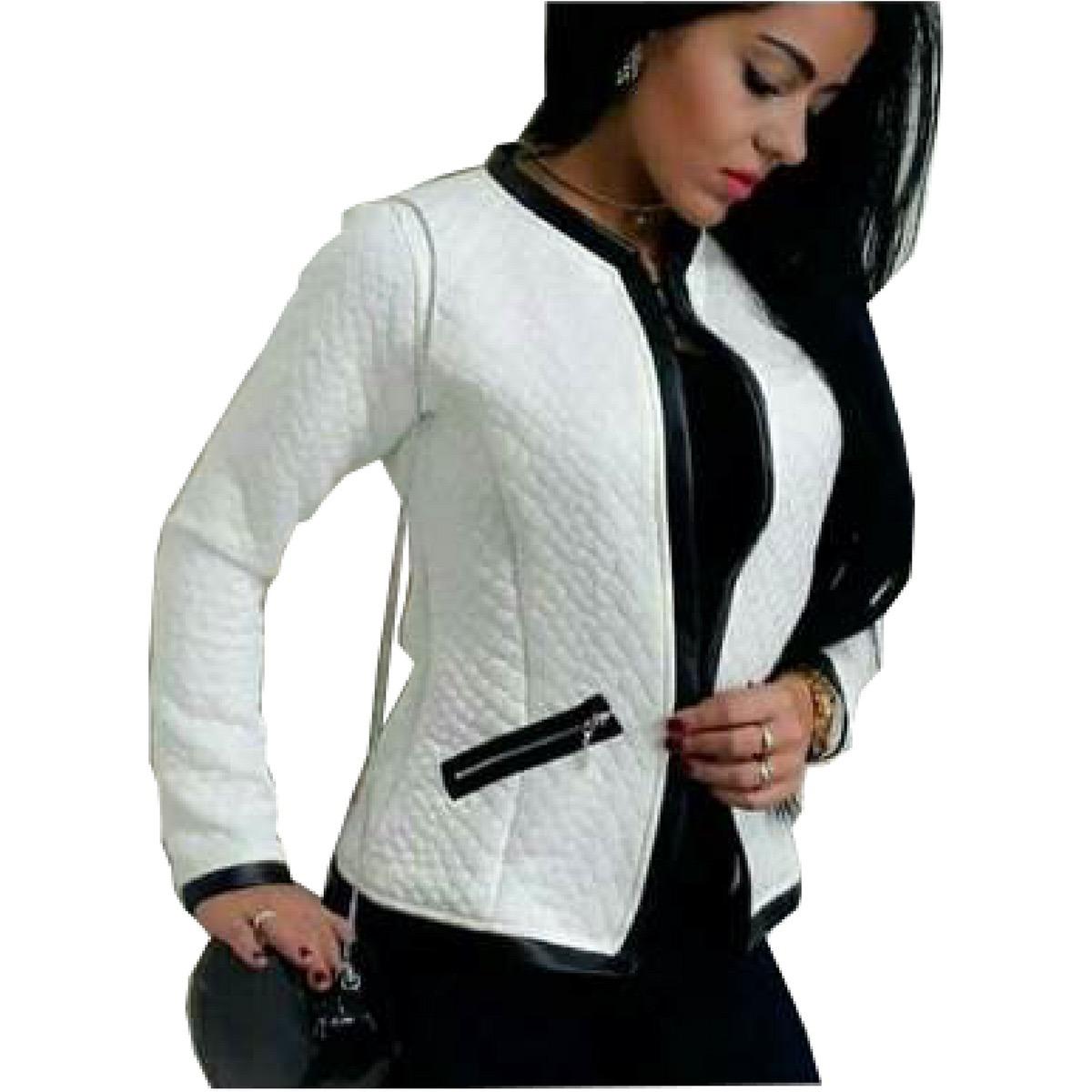 a919e941e Blazer Casaco Jaqueta Matelassê Feminino Inverno - R$ 85,00 em ...