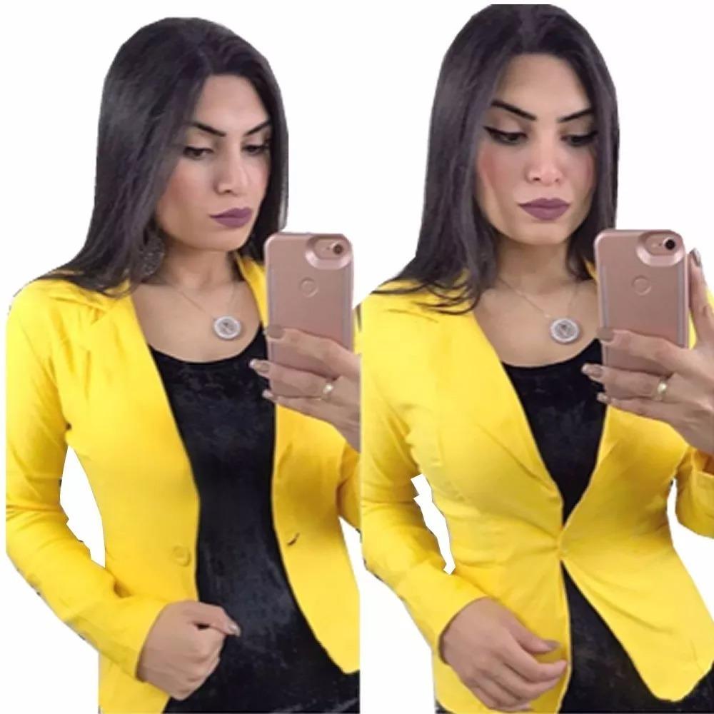baa76a29bd blazer casaco jaqueta terninhos femininos coloridos 2018. Carregando zoom.