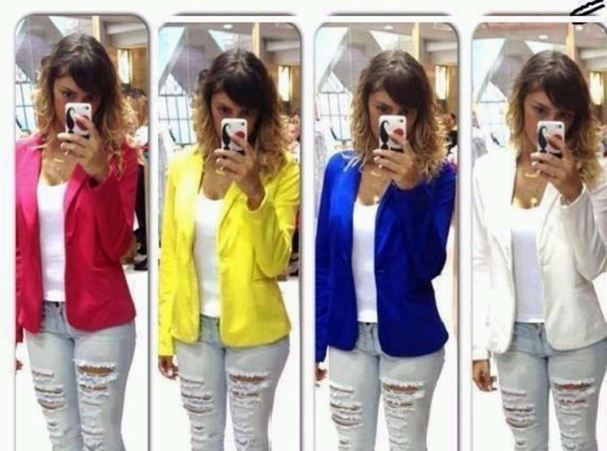 4d8bd11e82 blazer casaco jaqueta terninhos femininos coloridos. Carregando zoom.