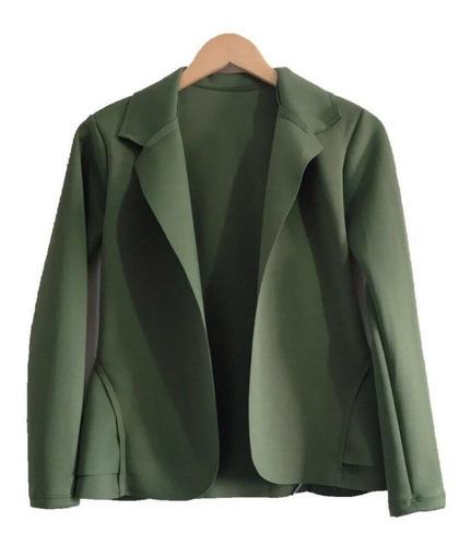 blazer casaco ou colete neoprene feminina varais modelo