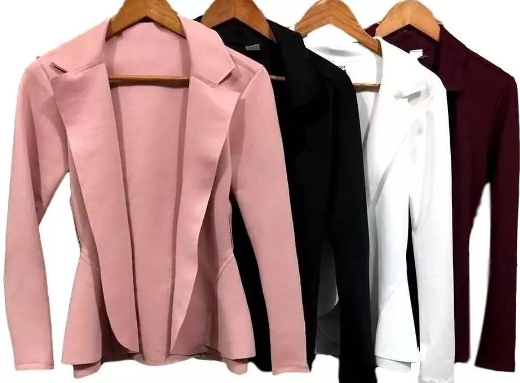 de1ba18e55 blazer casaquinho feminino neoprene casaco várias cores 2019. Carregando  zoom.