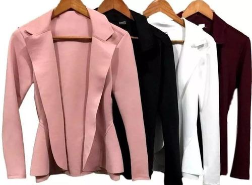 blazer casaquinho feminino neoprene casaco várias cores 2019