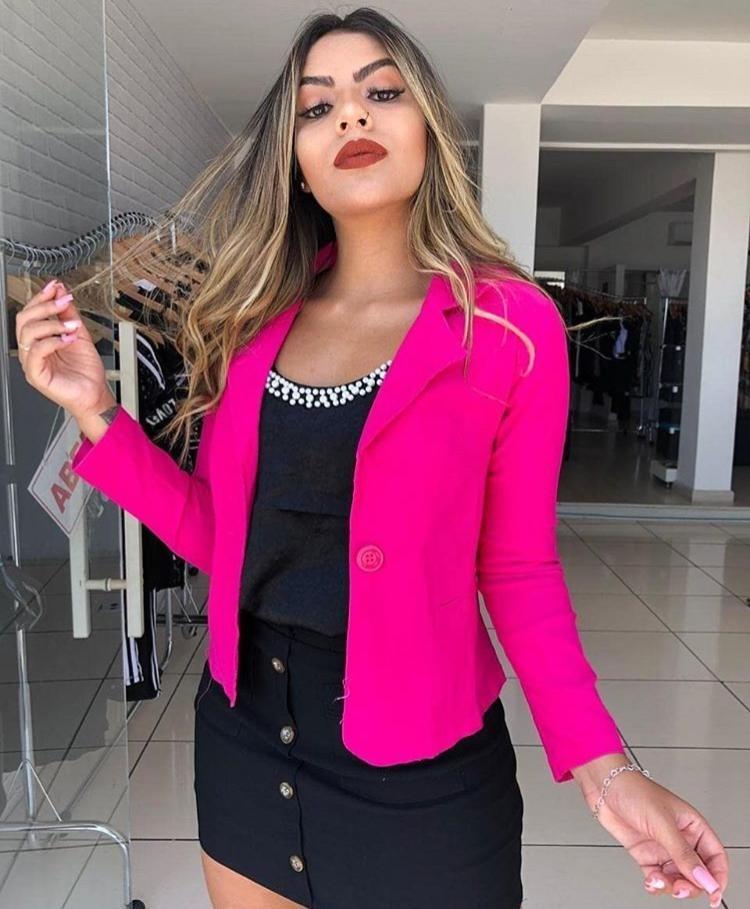 24bb25bfb blazer casual moda blogueiras promoção barato lançamento. Carregando zoom.