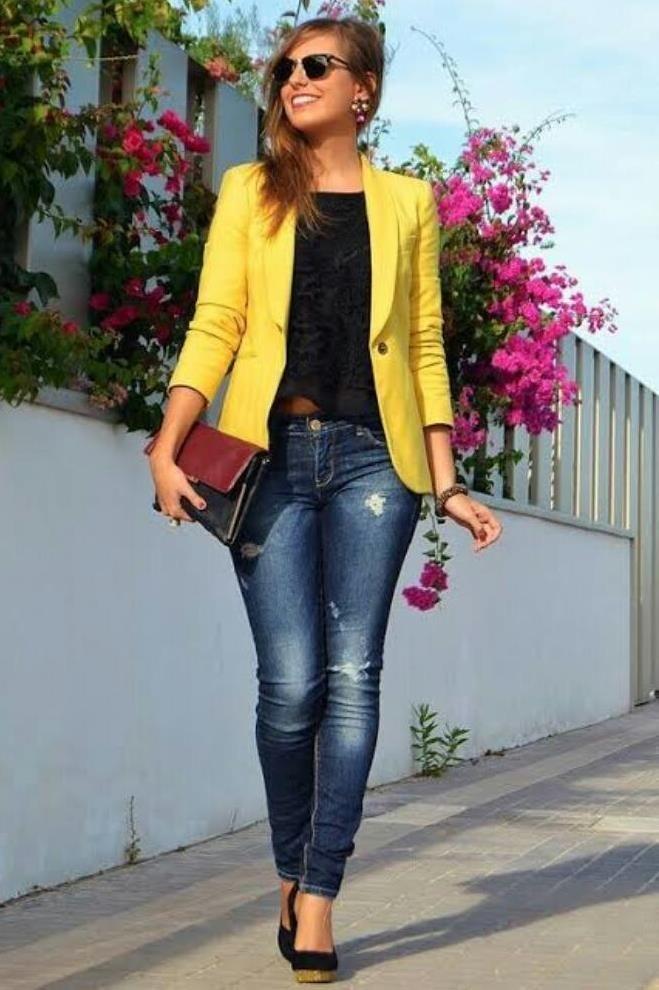 garantía de alta calidad 2019 mejor venta excepcional gama de colores Blazer Casual Mujer Dnoelia