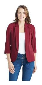 bonito diseño nueva precio de descuento Blazer Casual Tinto Marca Sahara Para Mujer Pr-3013892