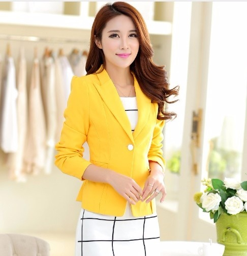 29 Mujer En 900 Amarillo Blazer Chaqueta Forrada Envìo Gratis yYwY5aSq