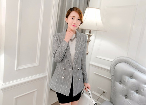 blazer chaqueta mujer forrada cruzada