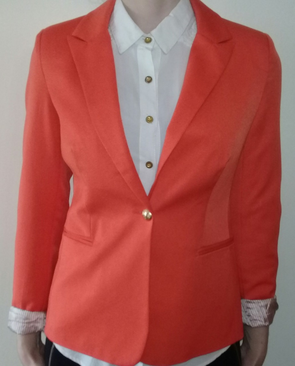 gran descuento 7cbb6 7310b Blazer Color Naranja De Mujer