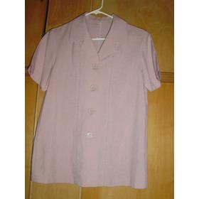 Blazer Color Rosa, Mangas Corta
