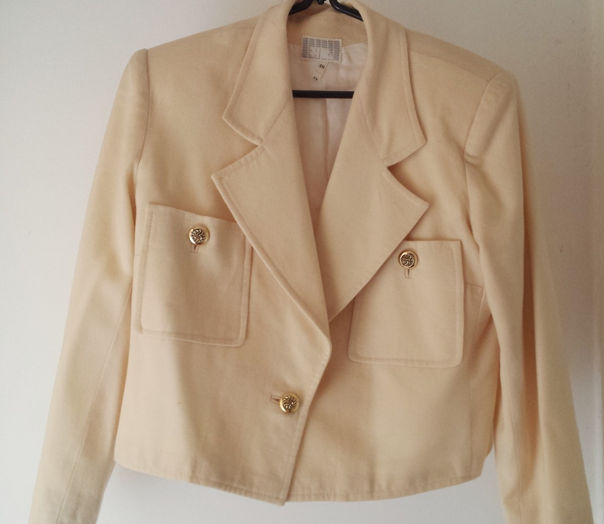 cda5985b39 blazer creme feminino em lã tamanho 48 lindo! Carregando zoom.