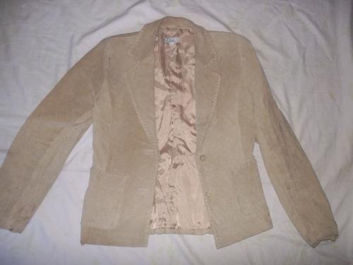 blazer cuero