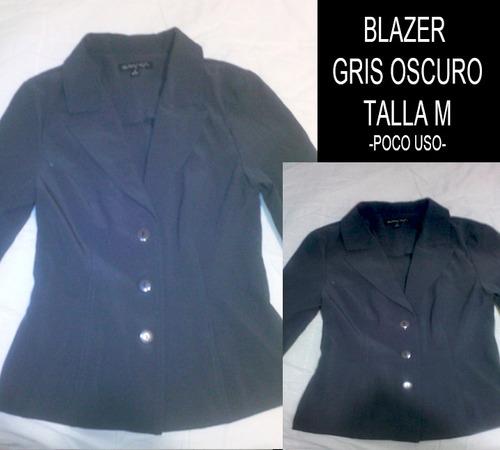 blazer dama - mujer. blazer gris