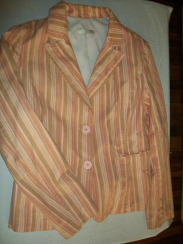blazer de dama rayado  spy  tonos pastel talle m