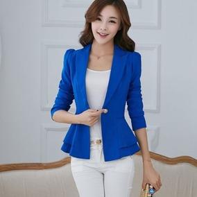 lujo venta más barata nueva selección Blazer Fashion Azul Elegante Formal Casual Jacket Coat //