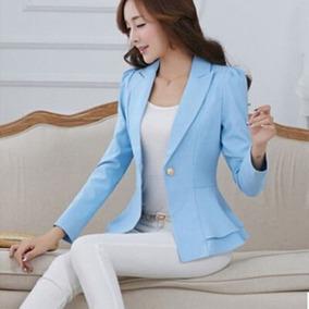 9d50bdb3b262 Blazer Fashion Elegante Formal Casual Jacket Coat Mujer //