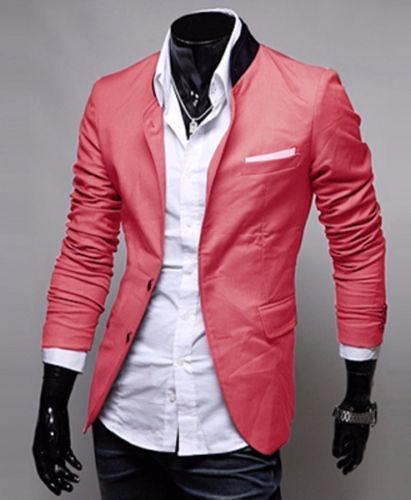 Super descuento auténtico auténtico Promoción de ventas Blazer Fashion Jacket Rosa Casual Hombre Party Ball Coat //