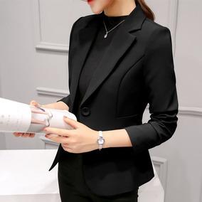 87e2b57ba2 Blazer Feminina Fashion Ótima Qualidade Slim Fit Manga Longa