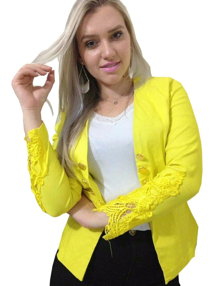 896ea3676f blazer feminino 10 botões manga renda terninho casaquinho. Carregando zoom.