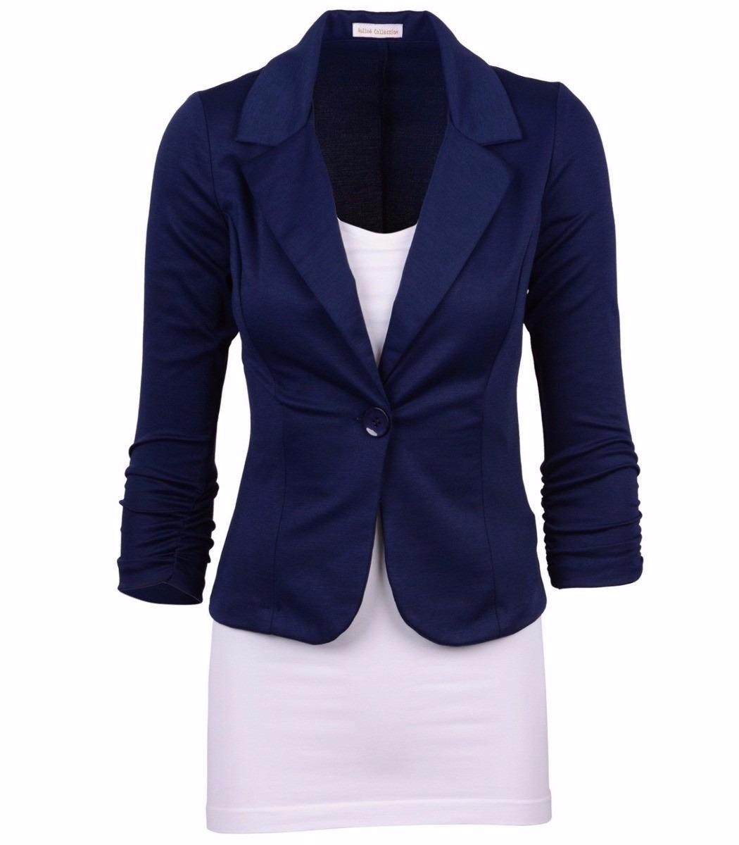 Blazer Feminino Azul Escuro  861e15e1138c6