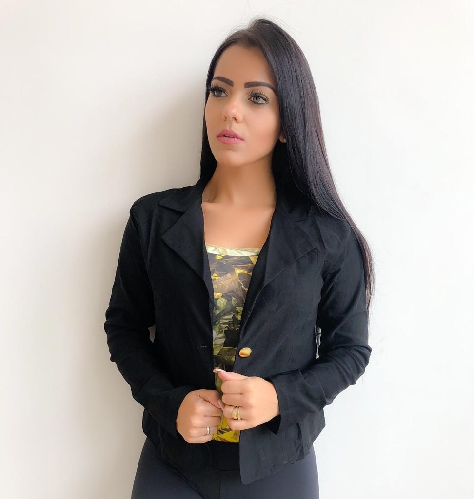 dd8aacd149 blazer feminino botão dourado plus size 46 ao 50. Carregando zoom.