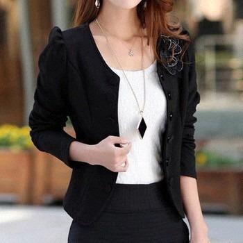 2b5dfa13c0 blazer feminino manga longa lindo casaco jaqueta terninho · blazer feminino  casaco