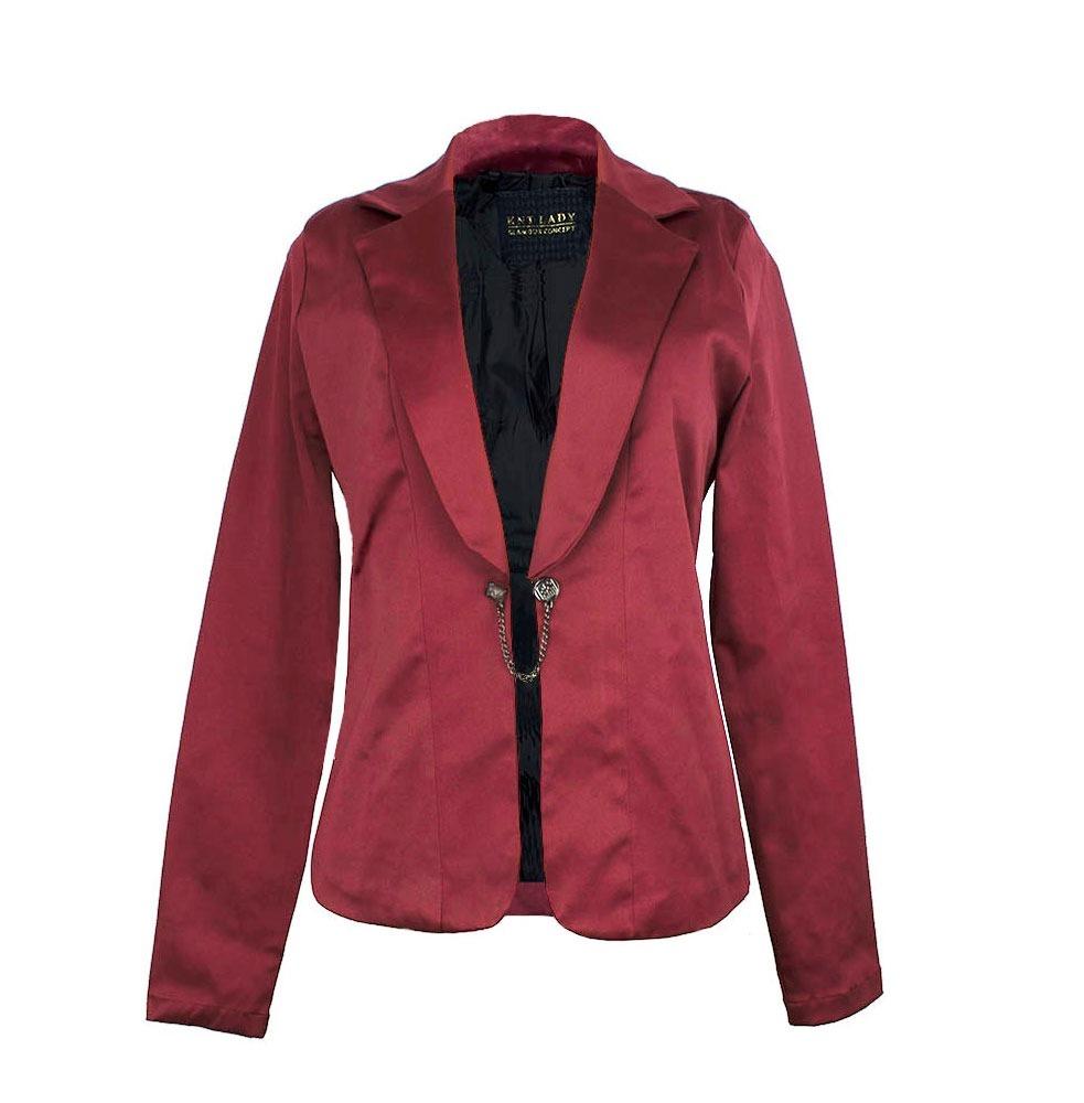 41d4518ca5 blazer feminino cetim vinho casaco casaqueto vermelho 21122l. Carregando  zoom.