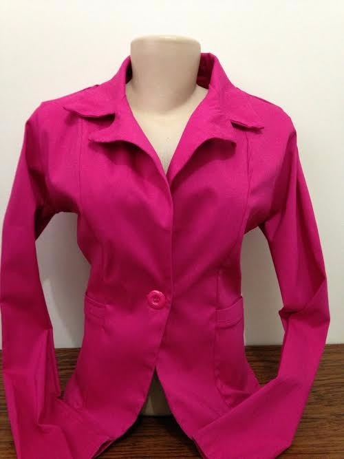 8875b16848 Blazer Feminino Colorido Botão Jaqueta Terninho Fashion Slim - R  49 ...